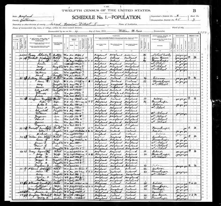 Benjamin Chaffman family 1900 Texas