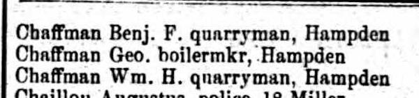 Chaffman 1881 Balto Directory
